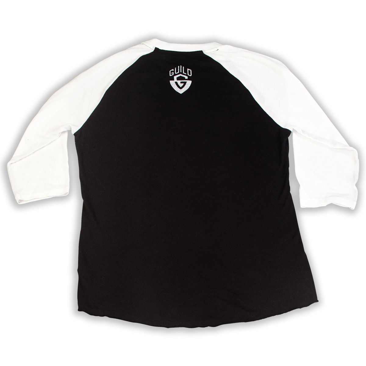 Back in black t shirt - Guild Ghost Baseball Tee In Black White