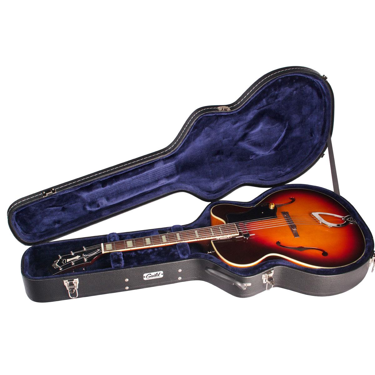 guild deluxe electric guitar wood case multiple sizes guild guitars. Black Bedroom Furniture Sets. Home Design Ideas
